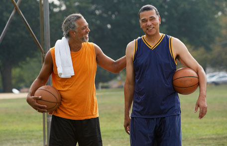 Men's Health photo basketball players